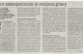Dobre samopoczucie w miejscu pracy/Gazeta Finansowa
