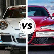 Alfa Romeo Giulia Q vs Porsche 911 GT3
